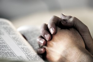Bible - Praying hands