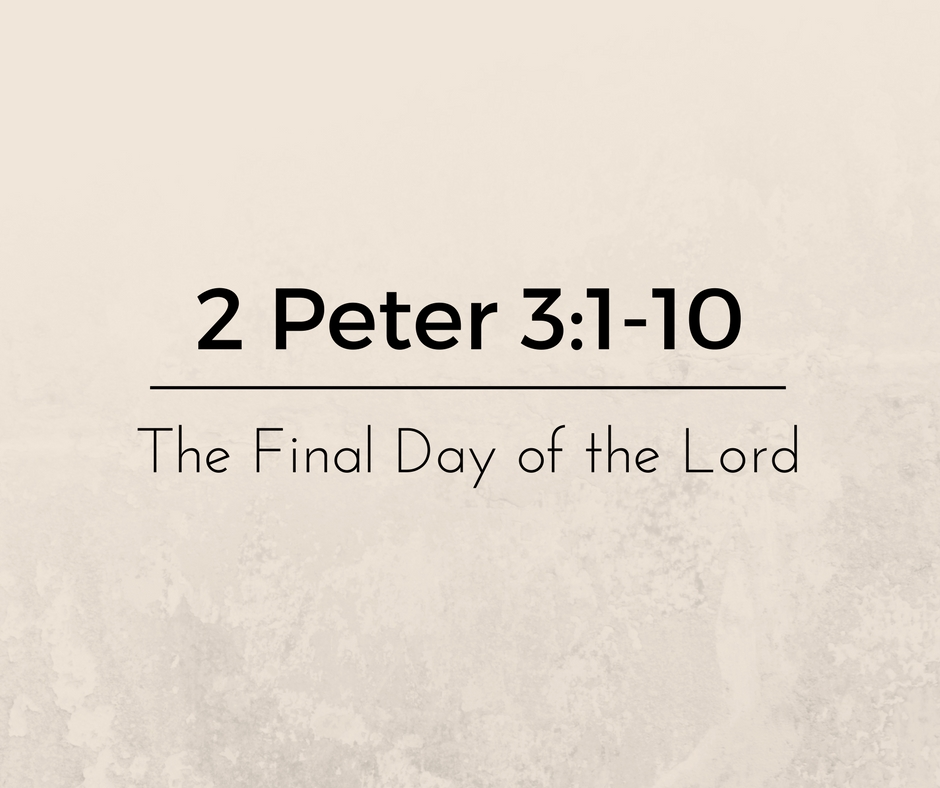 The Final Day of the Lord