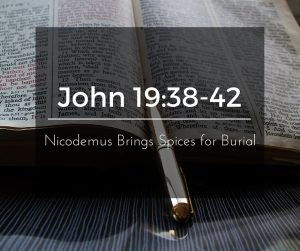 Nicodemus Brings Spices for Burial