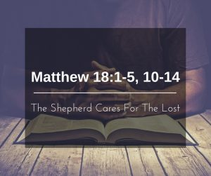The Shepherd Cares for the Lost
