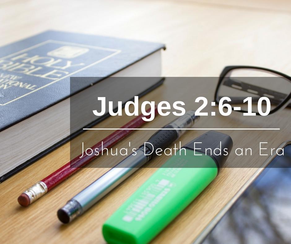 Joshua's Death Ends an Era