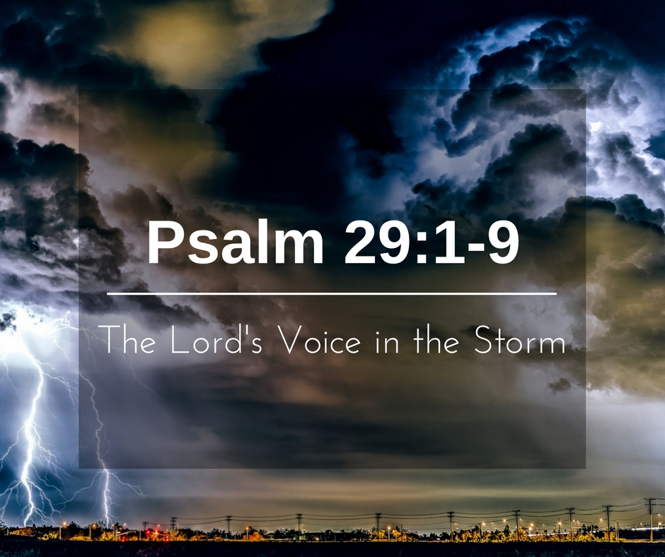 The Lord's Voice in the Storm