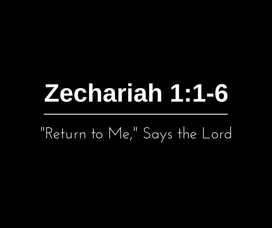 """Return to Me,"" Says the Lord"