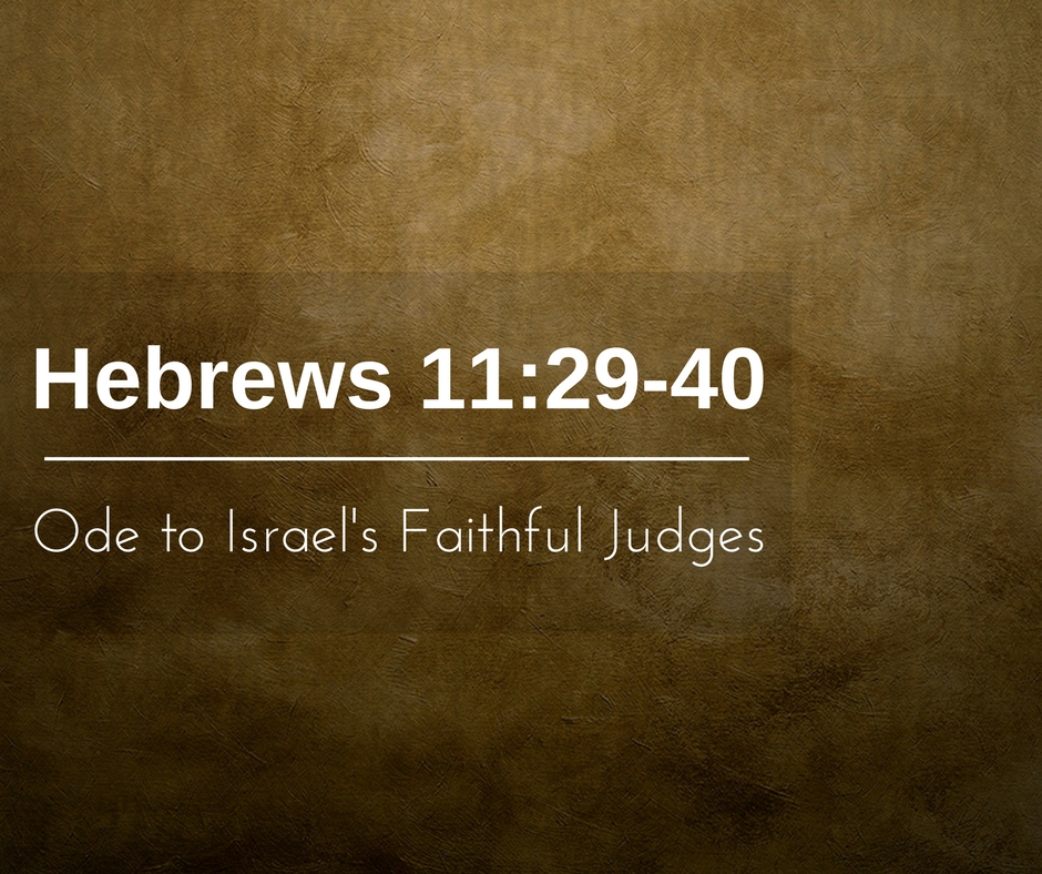 Ode to Israel's Faithful Judges