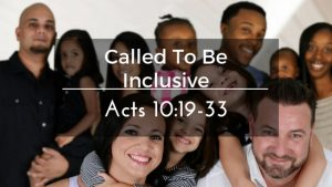 Called To Be Inclusive – The Weekly Study Guide