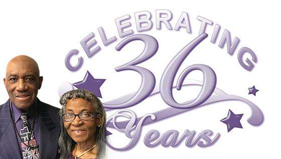 Celebrating 36 Years – Pastors Anniversary
